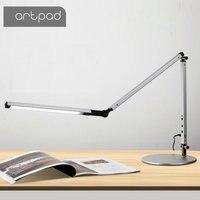 Artpad Moderne LED Schreibtisch Lampe mit Flexible Arm Dimmer Helligkeit Auge Pflege der Arbeit Büro Tisch Lampe mit Clip Clamp Remote control-in Schreibtischlampen aus Licht & Beleuchtung bei