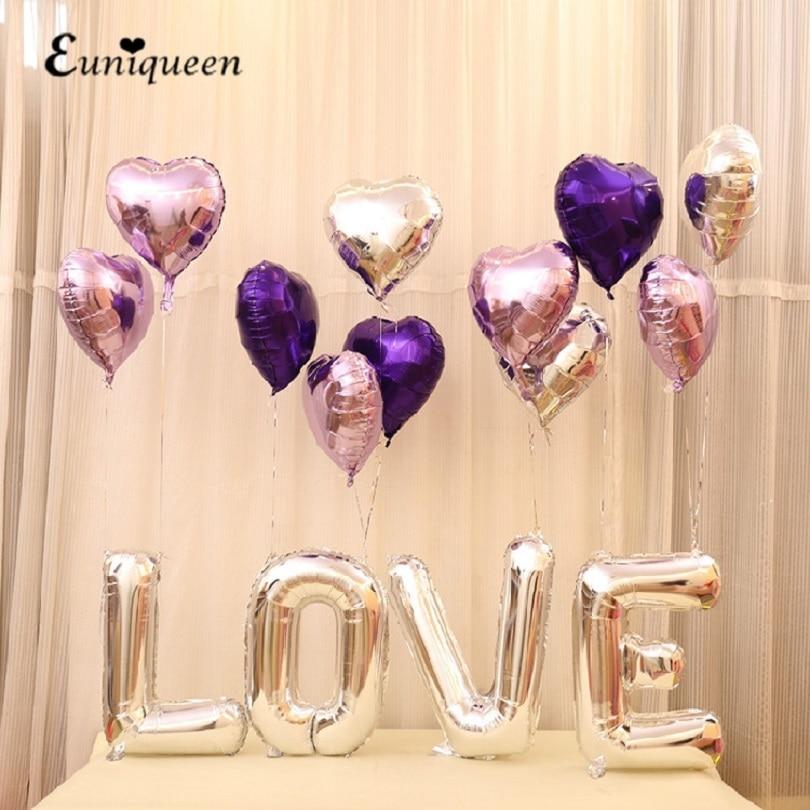 Baloni baloni z žarko balon srebrna ljubezen mešanica srce - Prazniki in zabave