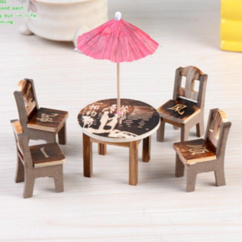 6pcs/set Desk Chair Model Mini Simulation Fairy Garden Miniatures Diy Doll House/ Terrarium Micro Moss Landscape Decoration To Ensure Smooth Transmission Toys & Hobbies