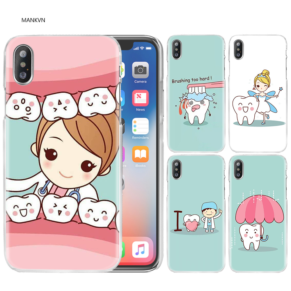 Radient Yinuoda Tooth Nurse Doctor Dentist Stethoscope Tooth Injections Phone Case For Apple Iphone 8 7 6 6s Plus X Xs Max 5 5s Se Xr Half-wrapped Case