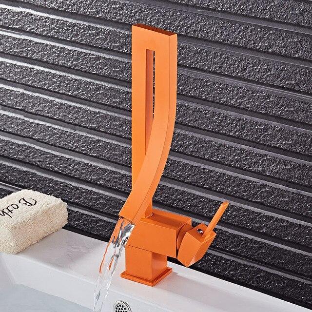 Chrome Brosse Nickel Noir Orange En Laiton Salle De Bain Carré
