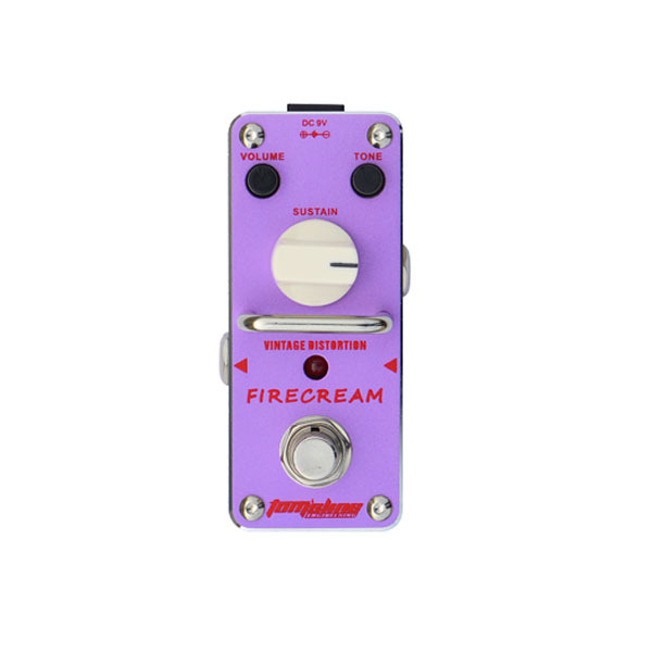 New AROMA AFM-3 FIRECREAM Vintage Guitar Distortion Mini Analogue Effect True Bypass agr 3 greenizer vintage overdrive guitar effect pedal aroma mini analogue guitar accessories with true bypass footswitch
