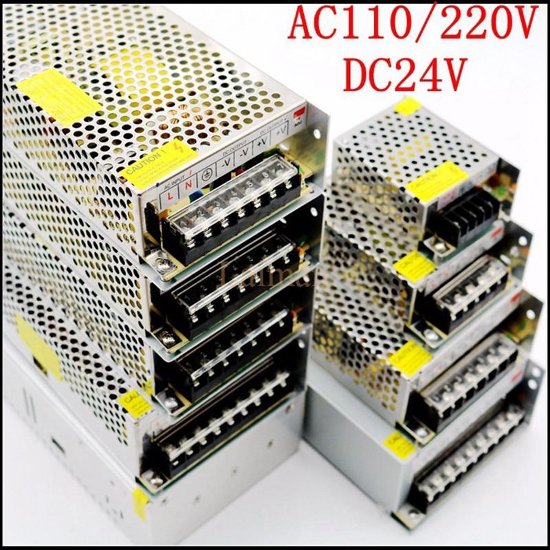 цена на Aluminum Power Driver Supply Transformer AC100-240V to DC 24V 1A 2A 3A 5A 6.5A 8.5A 10A 15A 20A LED Strip Power Adapter