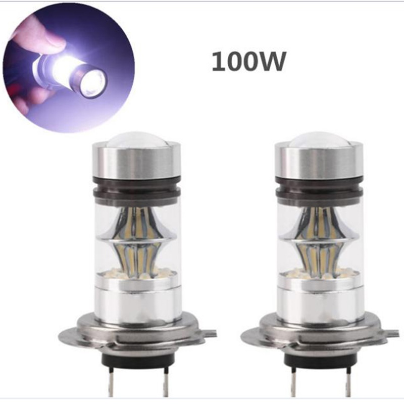 2X Auto Car 100W Bright White H4 6000K LED Daytime Light Lamp bulb Driving DRL дефлектор auto h k gt 36964