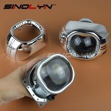 Car External Lights 3.0 inch Q5 Square Bi-xenon Lens Projector HID Headlight Full Metal Headlamp Lenses H4,Use D2S D2H Bulbs