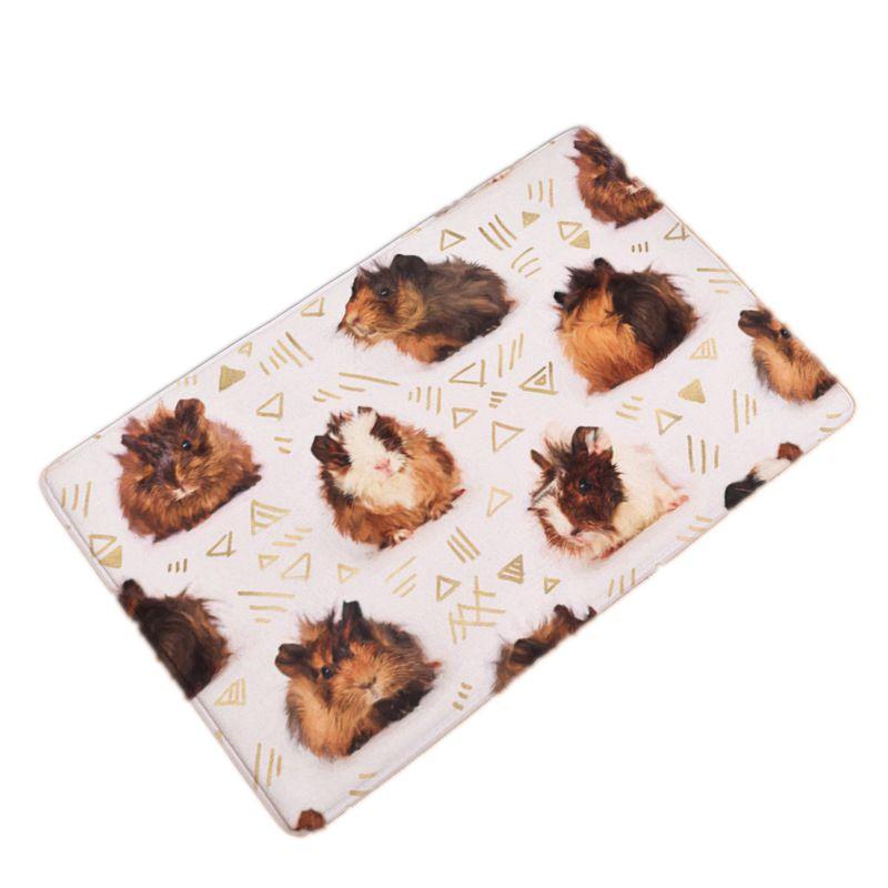 40x60cm/50x80cm Soft Flannel Doormat Carpets Hamster Elephant Dog Cat Print Mats Floor Kitchen Bathroom Rugs