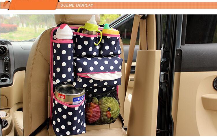 Fashion Car Seat Back Storage Bag Car-styling Car Organizer Multi-functional Baby Items Stowing Tidying Automobiles mummy bag