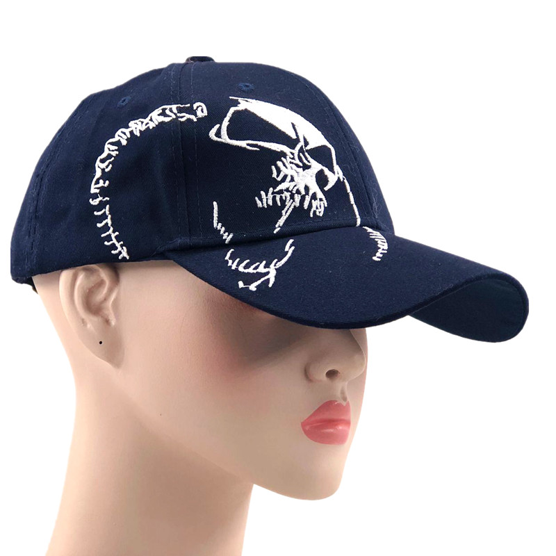 3617422f759 High Quality Unisex 100% Cotton Outdoor Baseball Cap Skull Embroidery  Snapback Fashion Sports Hats For