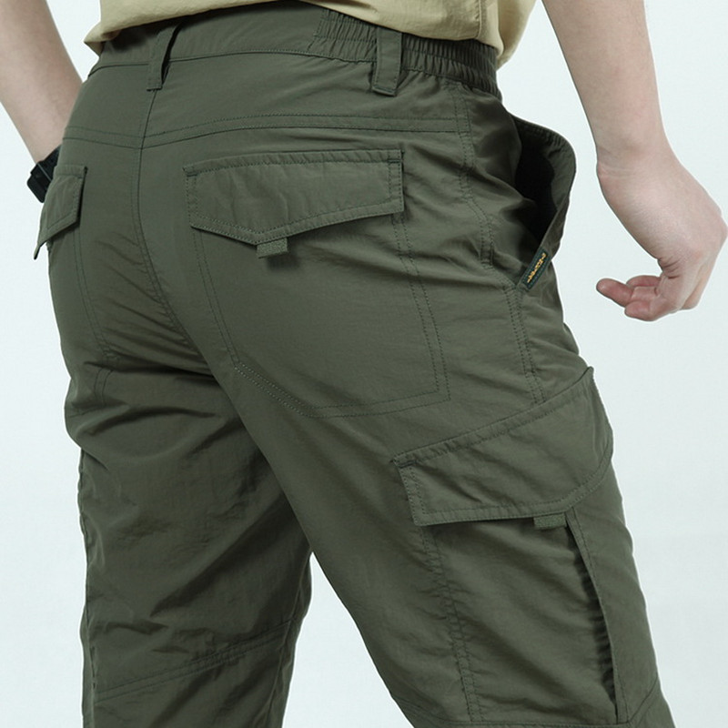Summer Men Tactical Cargo Pants Men's  Army Military Style Trousers Male Breathable Lightweight Waterproof Quick Dry Casual Pant