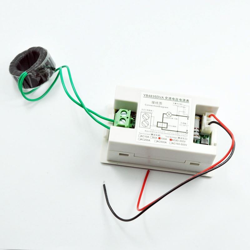 Ac 500v 200a 220v 380v 0 200a Led Volt Amp Meter Voltage Meter Current Meter Ampere Panel Meter