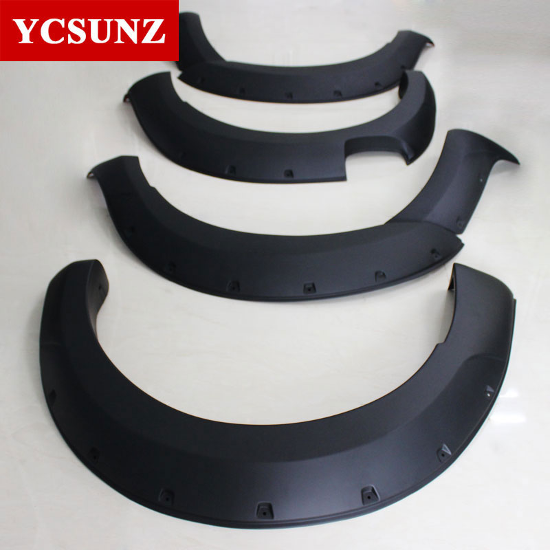 Matte Black Color Wheel Arches Fender Flares Mudguards 9 Inch With Nuts Offroad For Ford Ranger T6 2012 2013 2014