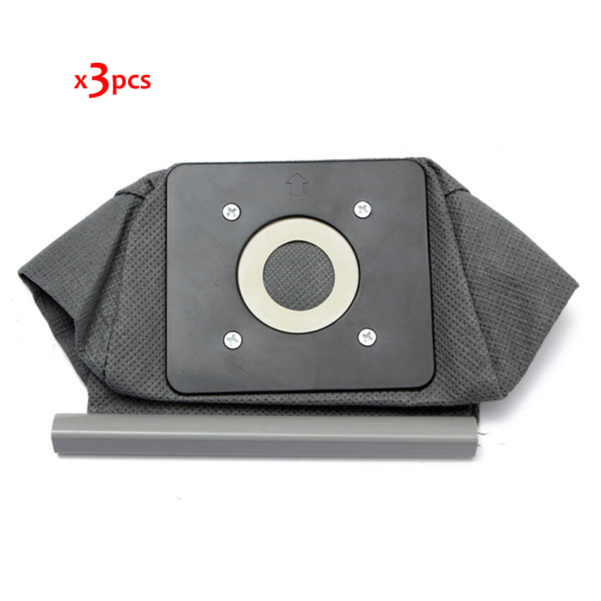 Free shipping 3pcs universal cloth bag reusable vacuum cleaner bags suitable for Philips Electrolux LG Haier Samsung etc electrolux es 53 4 bags 1mf