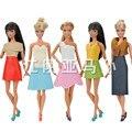 Alta Qualidade Artesanal de Couro Traje de Negócios Vestido de Roupas para Barbie Novo Brinquedo de Presente para a Menina