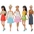 High Quality Handmade Leather Business Attire Clothes for Barbie Dress New Gift Toy for Girl