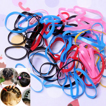 Sale 300pcs/lot Candy Color Headwear Hair Ring Ropes Ponytail Holder Disposable Elastic Hair Bands for Girls Hair Accessories