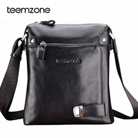 Teemzone Men S Genuine Leather Business Messenger Shoulder Bag Brand New Three Colors T8009