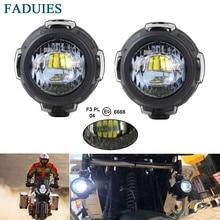 FADUIES 1 пара 40 Вт Светодиодный дополнительная противотуманная легкие сборки безопасности фар дальнего света мотоцикла для BMW R1200GS/ADV/F800GS дополнительные фары