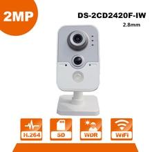 English Version HIK WiFi Camera DS-2CD2420F-IW 1080P Wi-Fi Home Security Camera 2MP IR Cube Network CCTV Cam Baby OEM IPC3412-W