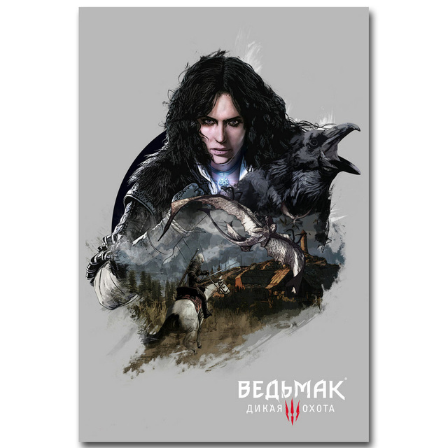 The Witcher 3 Wild Hunt Art Silk Poster Print 13x20 24x36