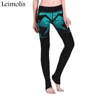 Leimolis 3D impressão galáxia Verde patchwork inverno Harajuku Cintura Alta treino push up plus size leggings mulheres calças de fitness