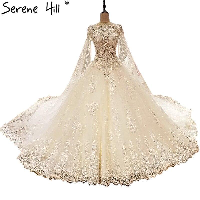 Champagne Color Wedding Dresses Vestidos De Noiva 2017: Vestido De Noiva Champagne Lace Wedding Dresses Diamond