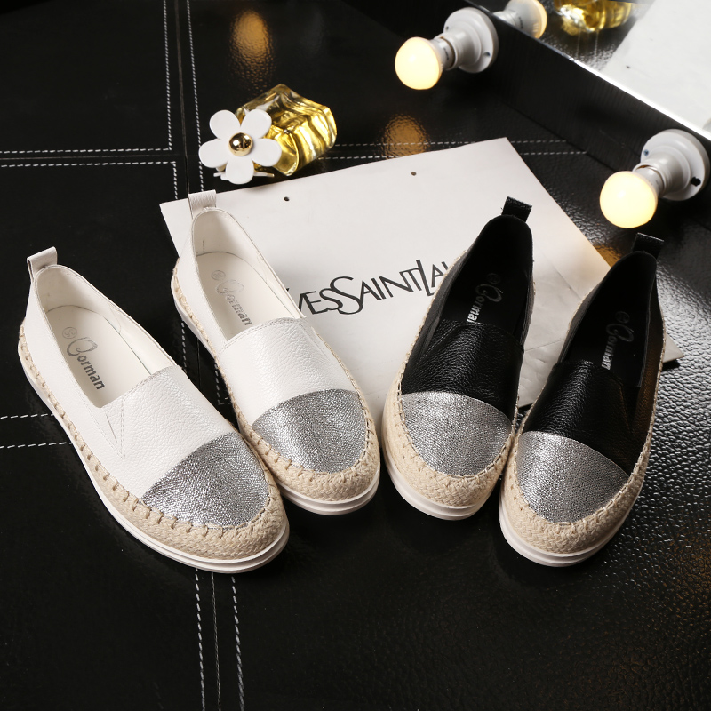 Lzzf 2018 Fashion Flat Black Shoes for Women Casual Slip on Loafers Ballerina Flats Nurse Shoes Woman Espadrille Tenis Plus Size embroidered letter striped espadrille flats