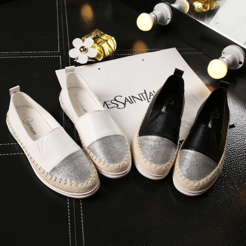 Lzzf 2018 Fashion Flat Black Shoes for Women Casual Slip on Loafers Ballerina Flats Nurse Shoes Woman Espadrille Tenis Plus Size