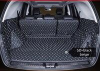 Leather Car trunk mat cargo carpet for Volkswagen Tiguan Touaregg Touran Vento Scirocco Phaeton Teramont custom fit