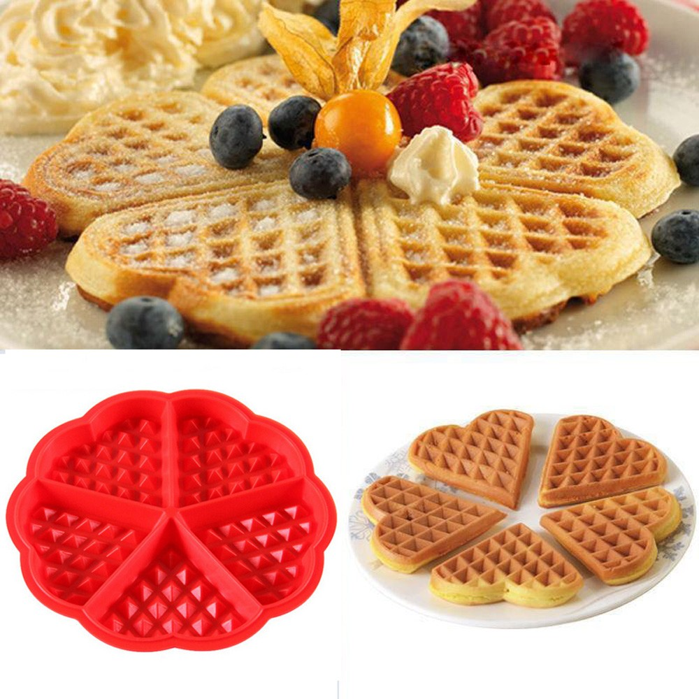 17 5cmx1 5cm Kitchen Silicone Mini Round Waffles Pan Cake
