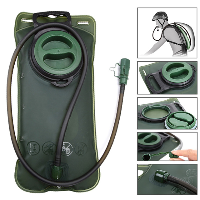 New 2L Large Opening Bladder Water Bag Hydration Backpack System Survival Pack Camping Hiking Cycling  Reservoir Outdoor Tool 1