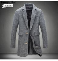 2018 New Long Trench Coat Men Windbreak Winter Fashion Mens Overcoat 40 %Wool Quality Thick Warm Trench Coat Male Jackets 5xl