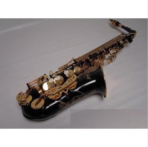 Профессиональный черного и золотого цвета альтсаксофон, саксофон Фирменная Новинка