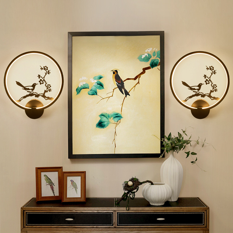 Best Selling LED Wall Lamp Indoor Black White Wall Lighting Simple Art Wall Lamp Interior with Zen Creative Bedside Wall Light