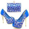 Nova Chegada Sapatos Italianos Com Sacos de Harmonização Mulheres Africanas Sapatos e Bolsas Definir Para O Casamento! MWE1-38