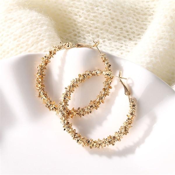IPARAM, новинка, большие круглые серьги-кольца для женщин, модные, массивные, золотой, в стиле панк, очаровательные серьги, вечерние ювелирные изделия - Окраска металла: ZL0000148-1