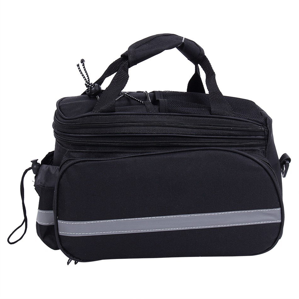 1pcs Black Ride Cycling Bicycle Bike Rear Seat Trunk Bag Handbag Pannier  Waterproof Polyester Duffel Bag Hight Quality-in Bicycle Bags   Panniers  from ... d0ce303522