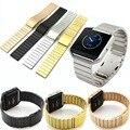 De Metal Em Aço Inoxidável 316L Ligação Pulseira para Fitbit Inteligente Pulseira de Relógio de Metal Estilo Clássico Chama Relógio Inteligente FBBZOS
