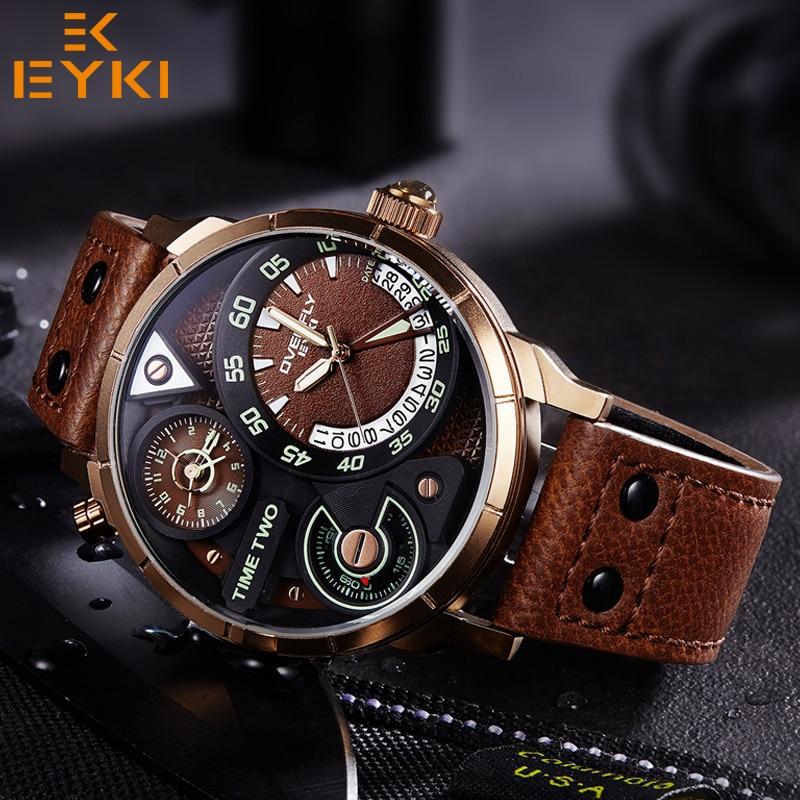 EYKI Men army sport luminous Quartz Wristwatch Luxury Male Clock Black Watchband Man waterproof Watch relogio masculino hot sale цена 2017
