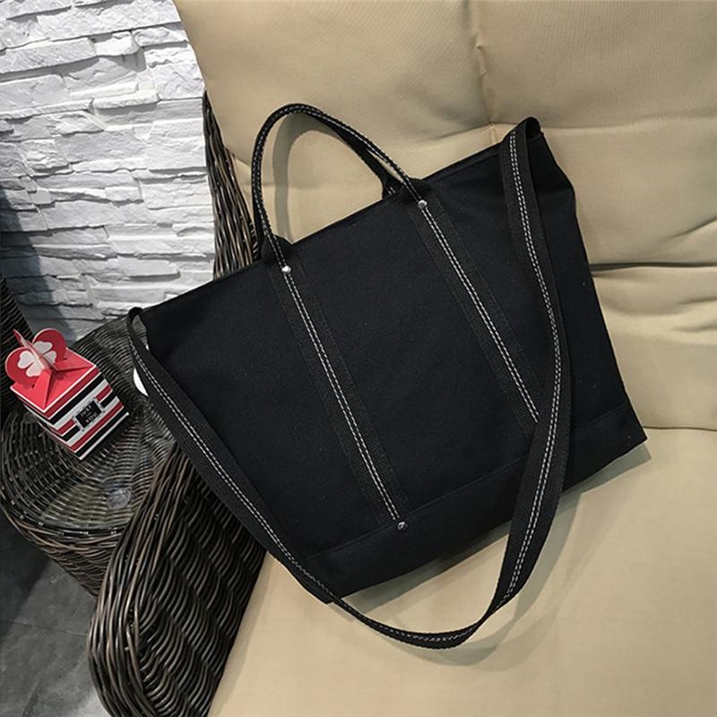 Women's Leisure Letter Canvas Bags Tote Zipper Bag Large Capatity Vintage Zipper Selling Messenger Shoulder Bagc