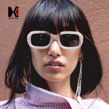 SHAUNA ファッション女性サングラス男性金属ヒンジシェード UV400