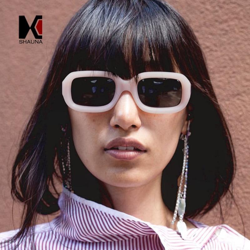 SHAUNA Mode Frauen Quadrat Sonnenbrille Vintage Männer Metall Scharnier Shades UV400