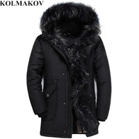 KOLMAKOV New Duck Down Coats Men Winter Mens Goose Down Jacket Fluff Liner Warm Hooded Jackets Parkas Homme S 5XL Fur Coats Male