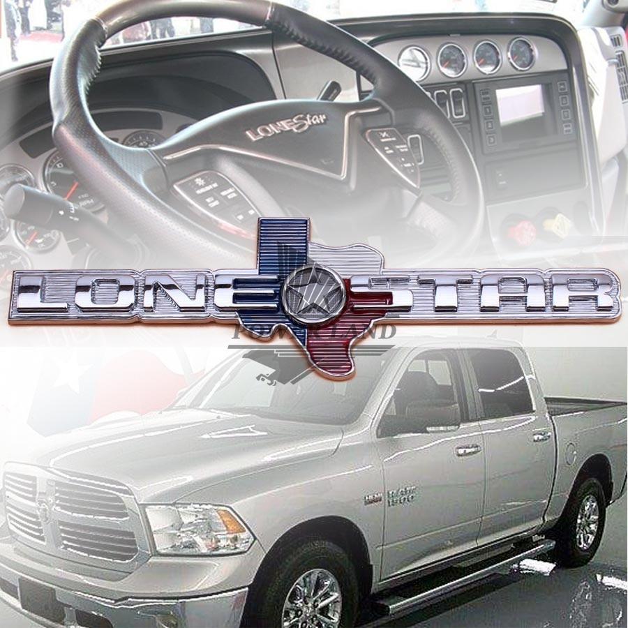 For chevrolet dodge ram truck lone star 1500 2500 3500 car styling metal 3d texas lonestar edition decal sticker badge emblem