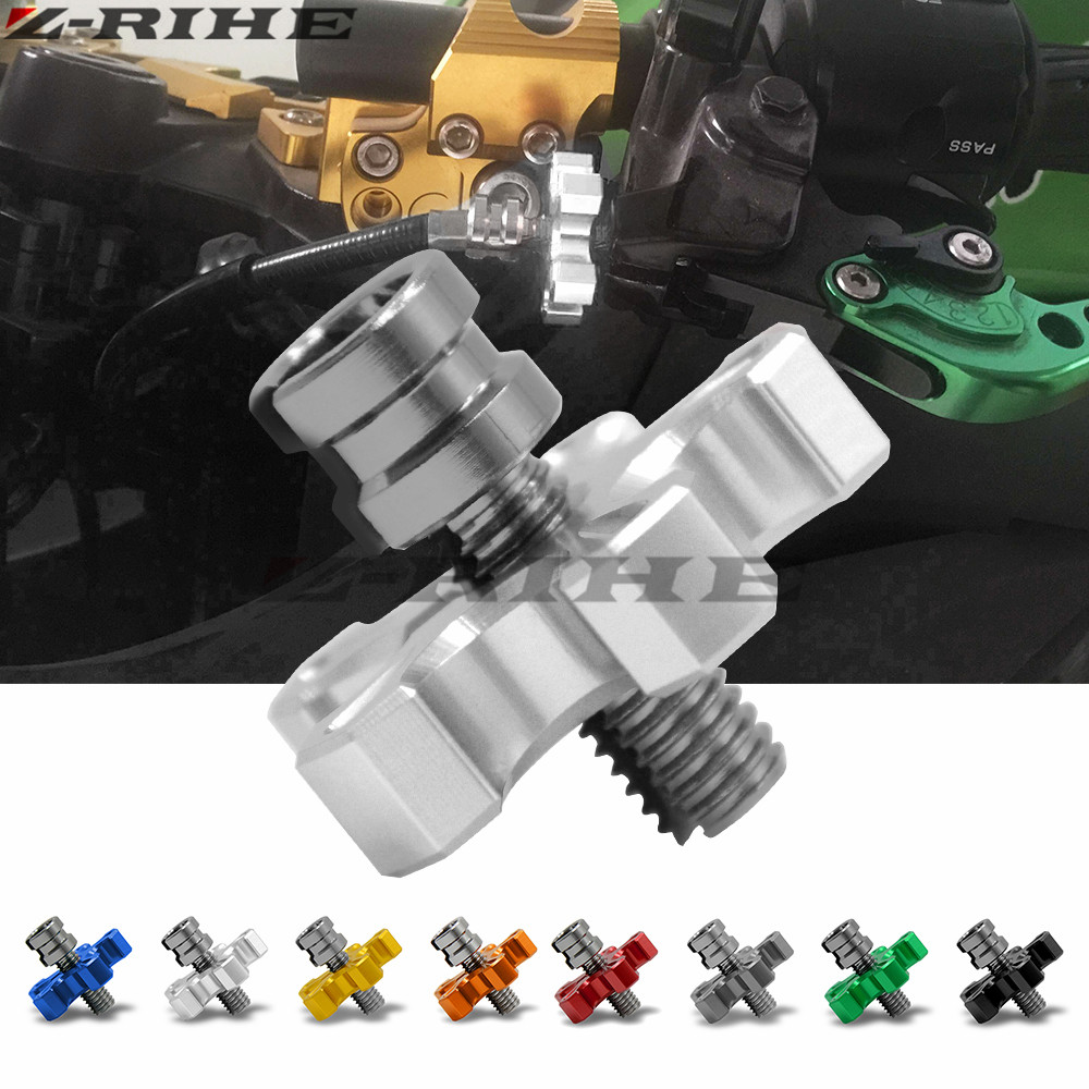 Clutch Cable Wire Adjuster Motorcycle Accessories CNC Aluminu For YAMAHA YZF R25 R15 R6 R125 kawasaki z750 Z800 FZ8 FZ1 FZ6R mt 6 colors cnc adjustable motorcycle brake clutch levers for yamaha yzf r6 yzfr6 1999 2004 2005 2016 2017 logo yzf r6 lever