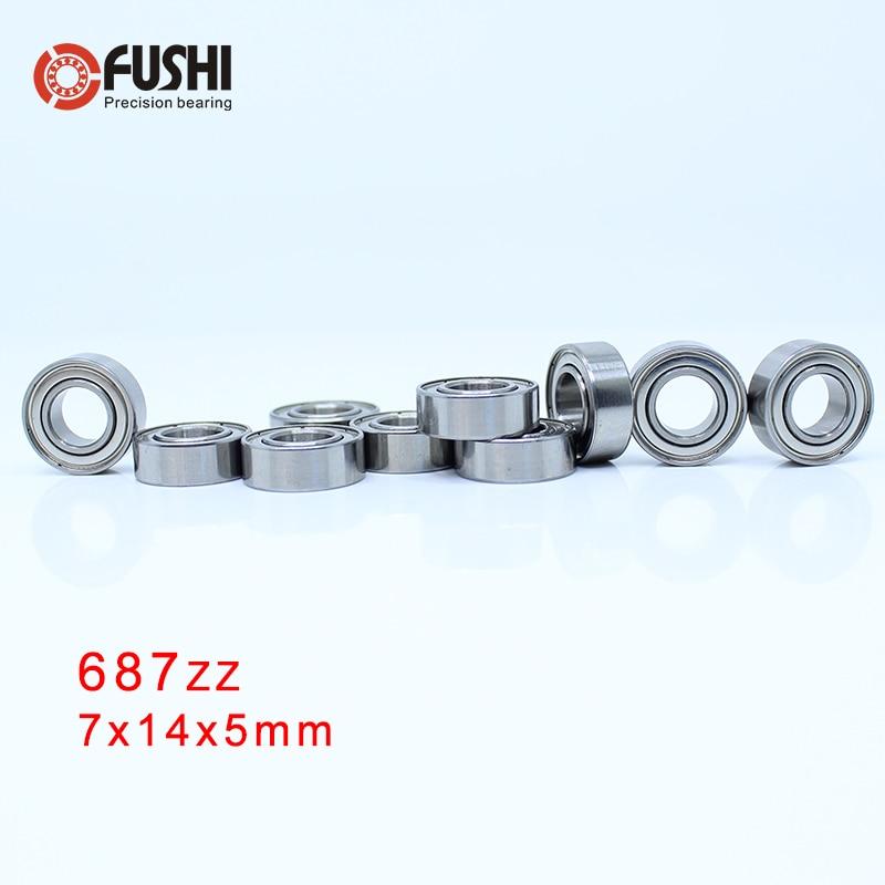 687ZZ Bearing 7*14*5 Mm ( 10 PCS ) ABEC-5 Miniature 687 Z ZZ High Precision 687z Ball Bearings