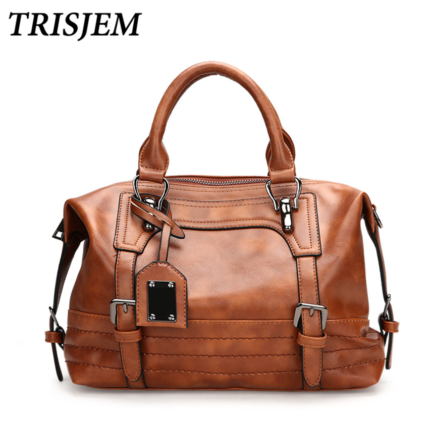 Women Leather Handbags Women Crossbody Bag Female Shoulder Bag Vintage Luxury Brand Handbag Tote sac a main Ladies Hand Bags new women genuine leather handbags shoulder bag oil wax cow leather tote bags female vintage handbags sac a main ladies hand bag