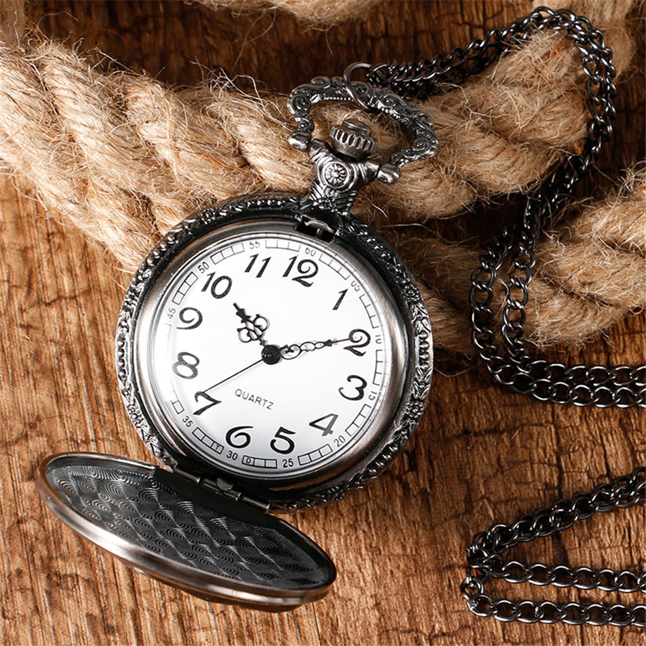 2017 Hot Necklace Watches Gray Tone Honorable Stark House Wolf Quartz Pocket Watch Pendant Game of Thrones Theme Long Chain  (12)