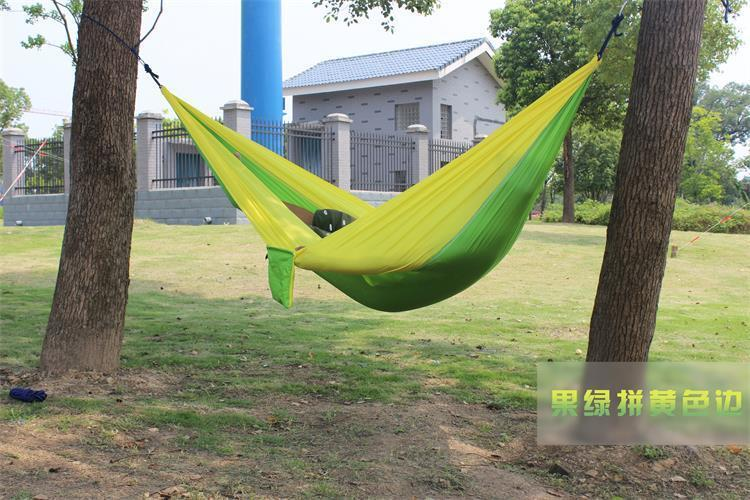 2 people Hammock 16 Camping Survival garden hunting swing Leisure travel Double Person Portable Parachute outdoor furniture 8