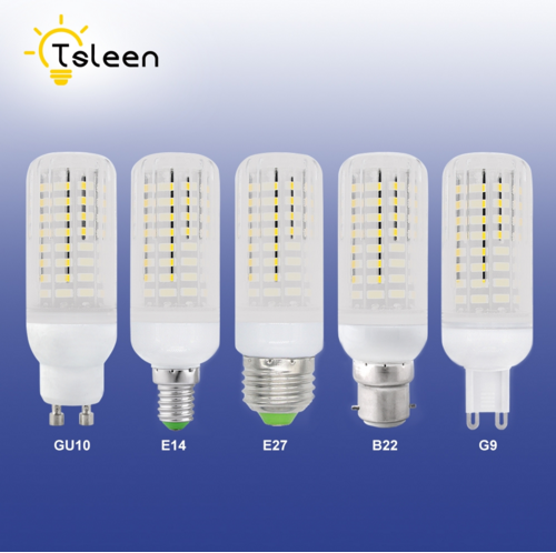 TSLEEN 10Pcs 5733 SMD More Bright E27 E14 LED Corn Lamp B22 G9 GU10 Bulb Light 7W 9W 12W 15W 20W 25W No Flicker Constant Current ...