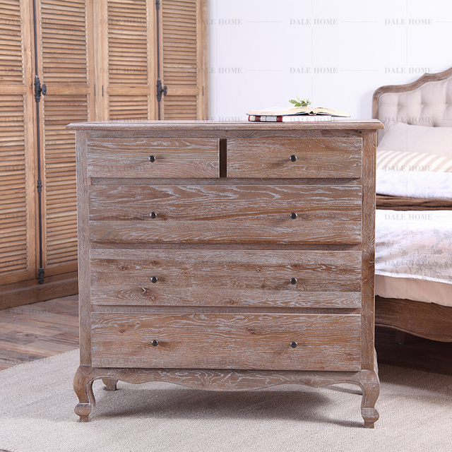 Export Furniture American French Country Solid Wood Oak Chest Of Drawers Storage Cabinets Lockers